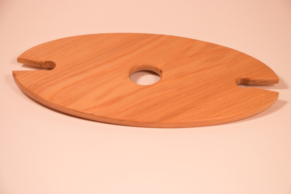 Oak wine glass holder