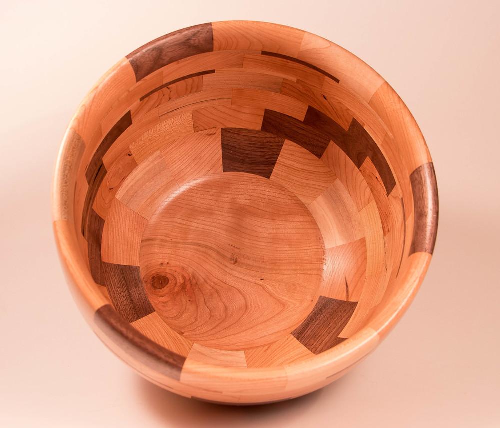 Inside a salad bowl
