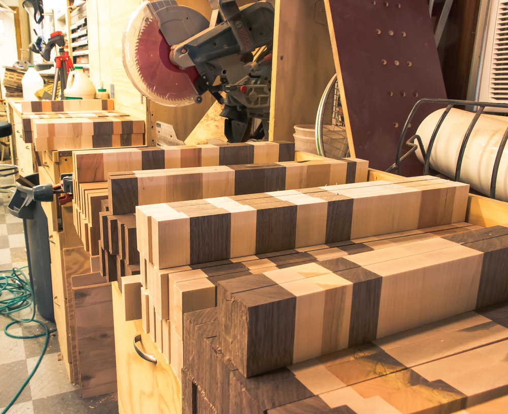 End Grain Cutting Board Segments