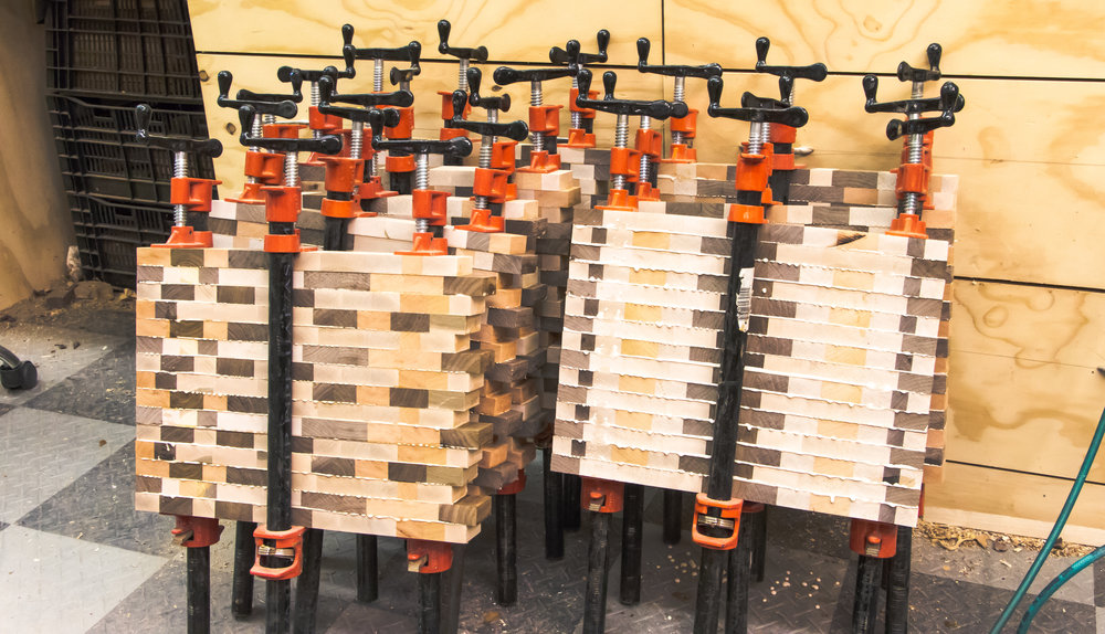Gluing End Grain Cutting Boards
