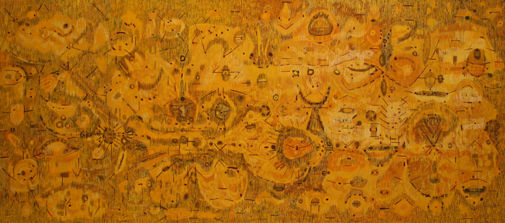 Lee Mullican, Tide of the Mud Sun, 1950, oil/canvas, 32 1/2