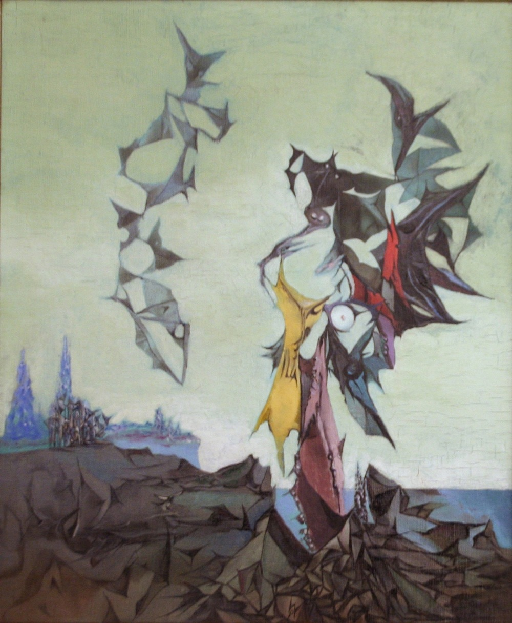 Wolfgang Paalen Voyage Totemique Oil on canvas, 18