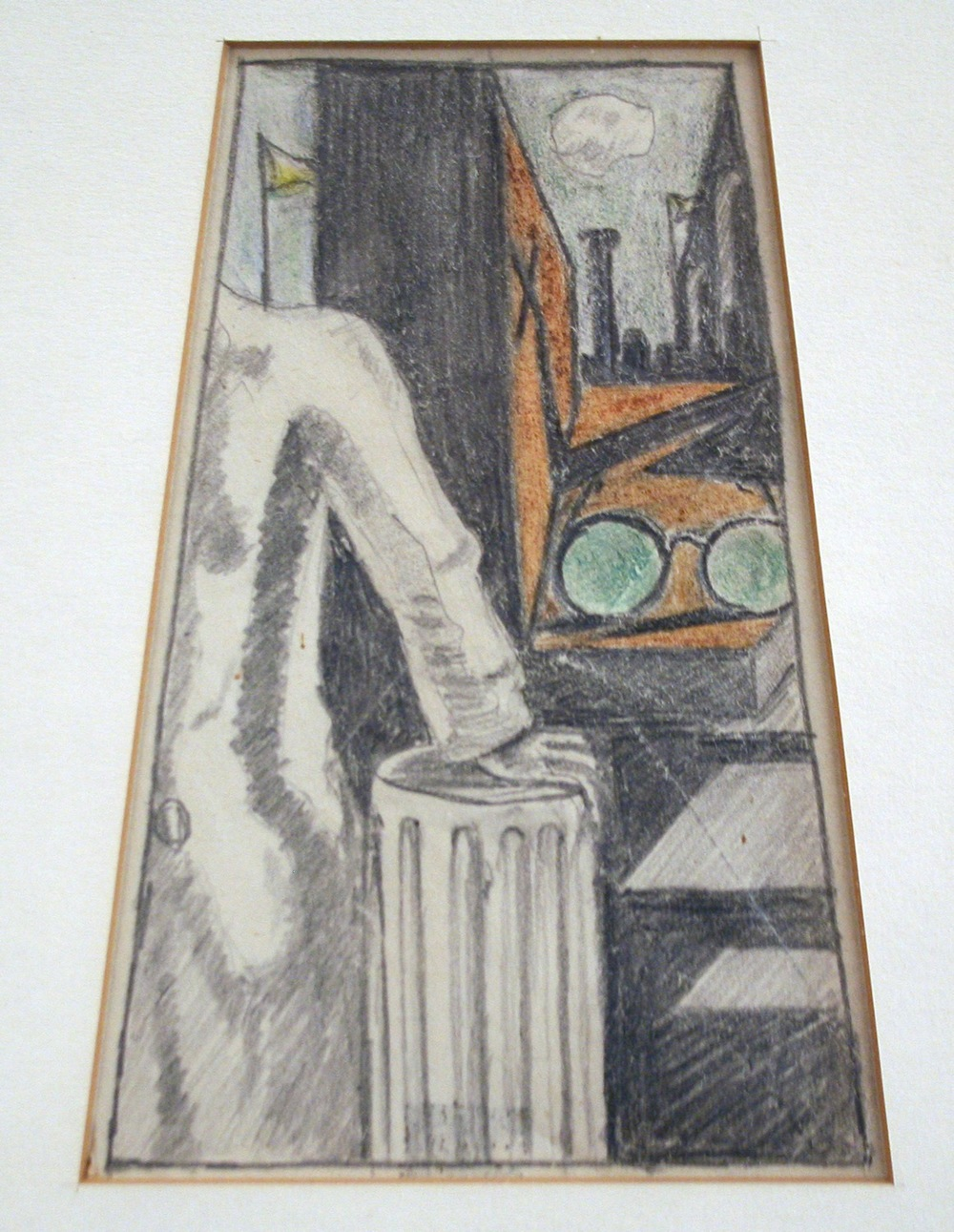 Andre Breton Drawing of De Chirico 4 1/2