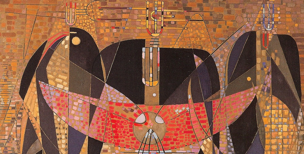 Wolfgang Paalen, Messenger of the Three Poles (detail), 1949, oil on canvas