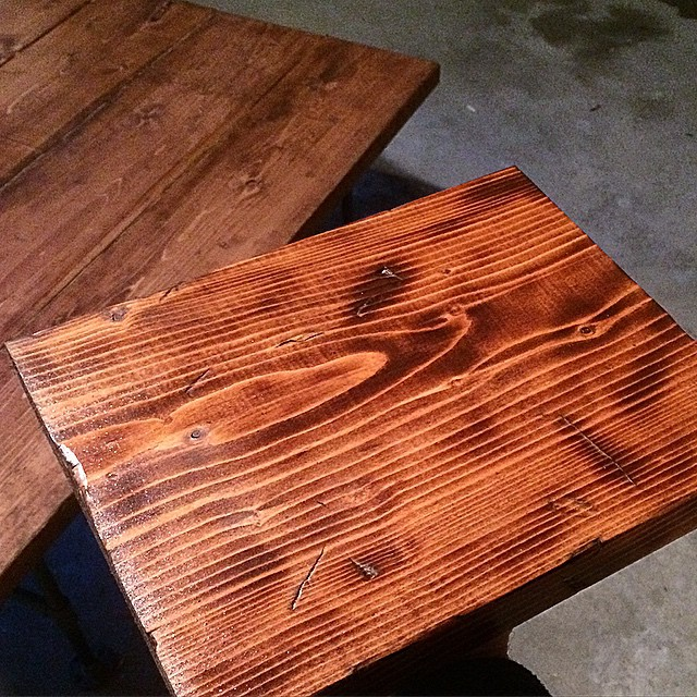 Scorched spruce serving tray