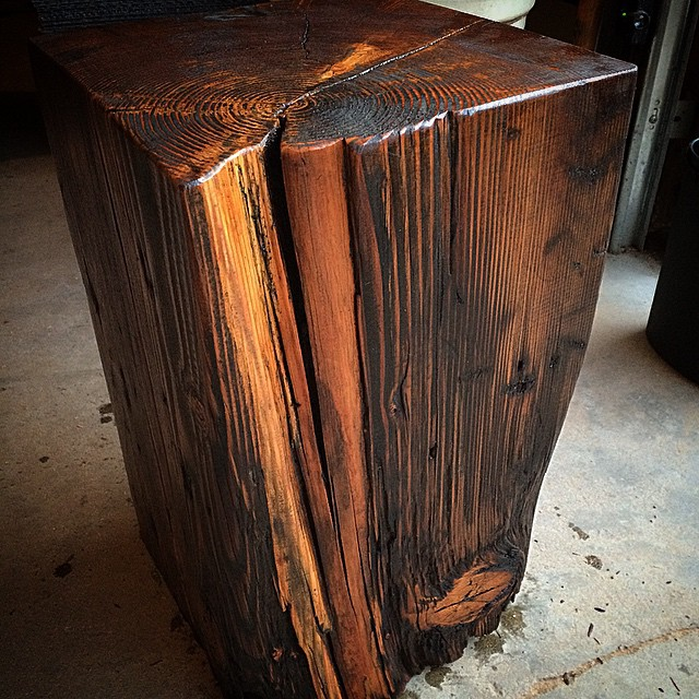 Reclaimed timber end tables