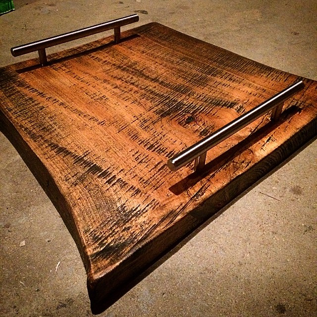 Custom live edge serving trays