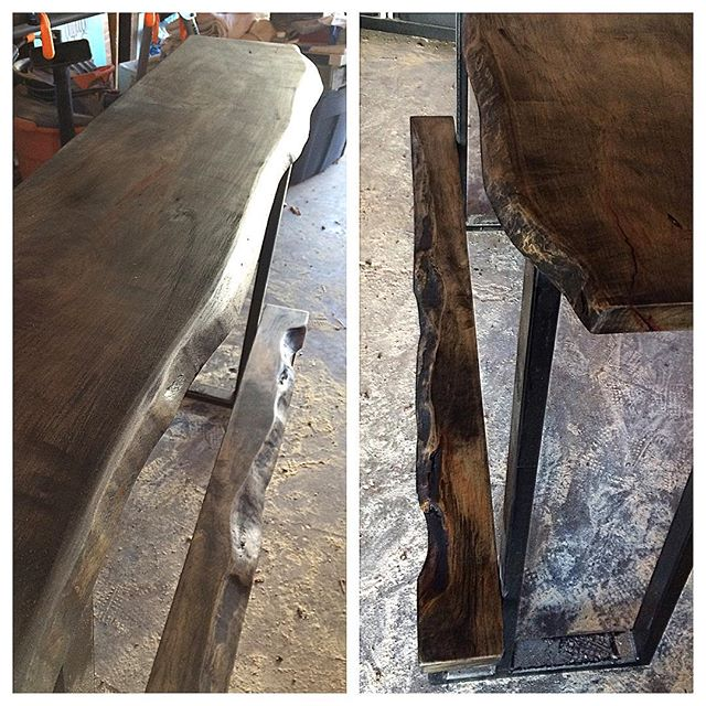 Live edge bar bench