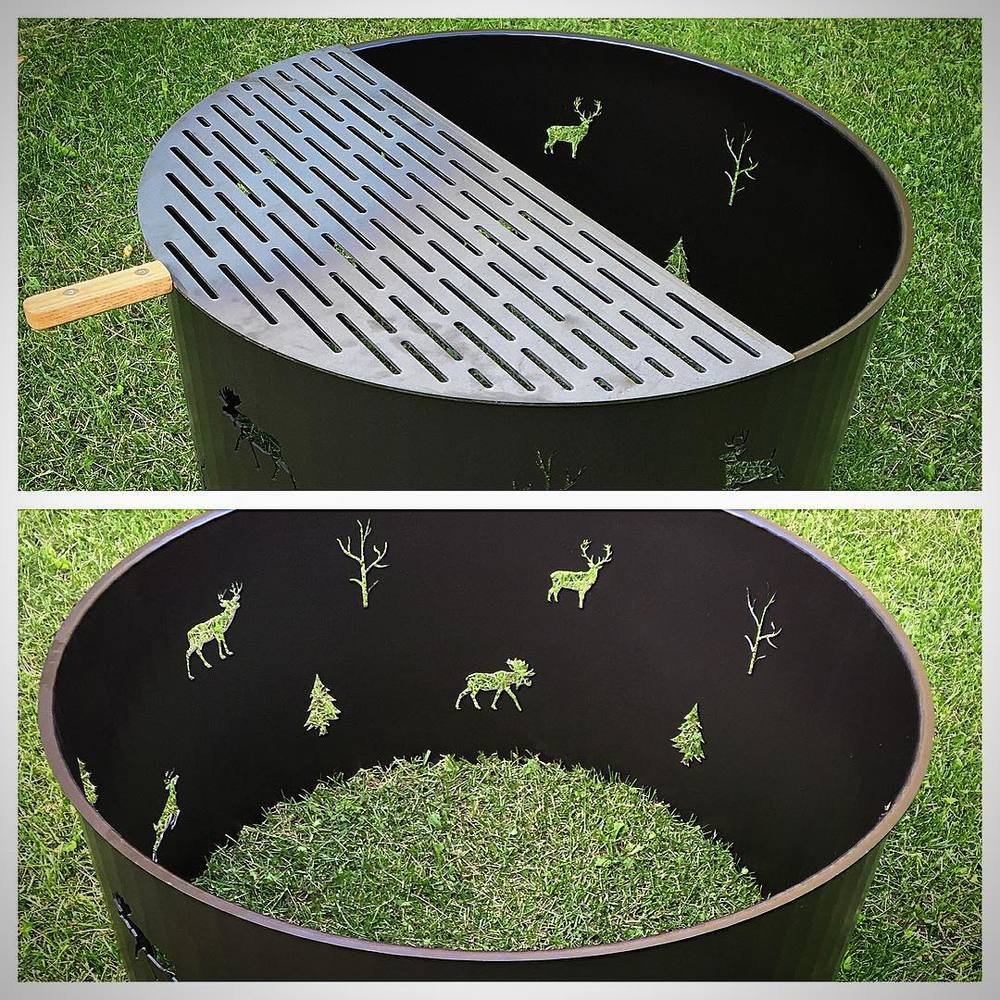 "Custom 36"" Steel Firepits"