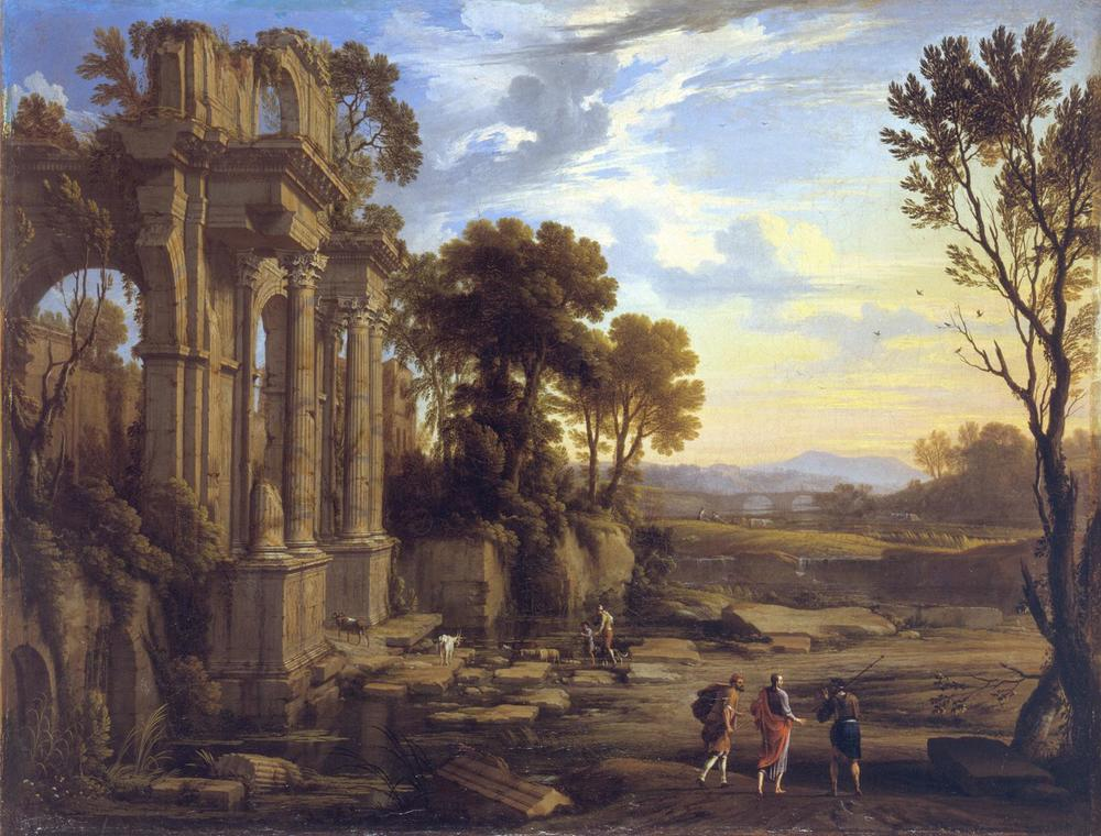 Landscape with the Journey to Emmaus by Pierre Patel the Elder, 1652