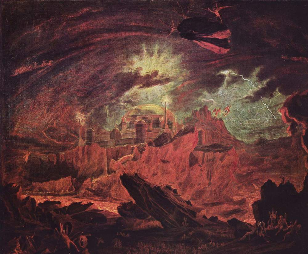fifth act theology fallen angels in hell by john martin 1841