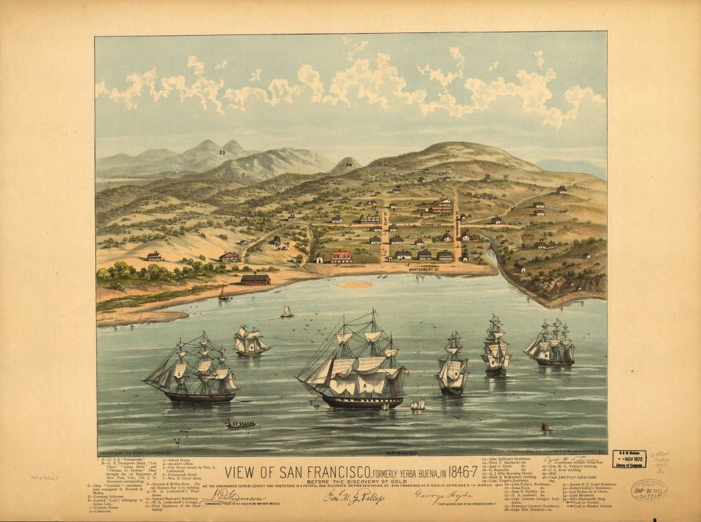 San Francisco, 1846-47. Just before the gold rush would change everything.