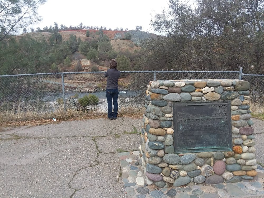 Monica checking out the old bridge crossing of The Yuba River.