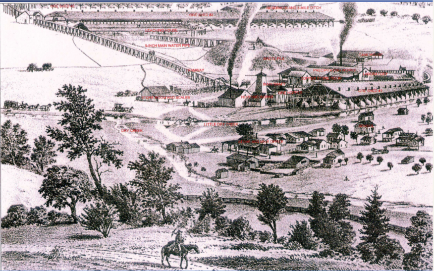 Spenceville Copper Mine, 1880.