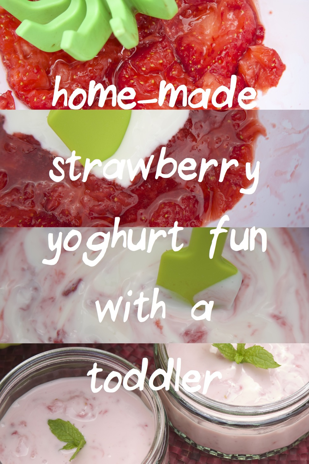 Homemade Strawberry Yoghurt - Tickle Fingers
