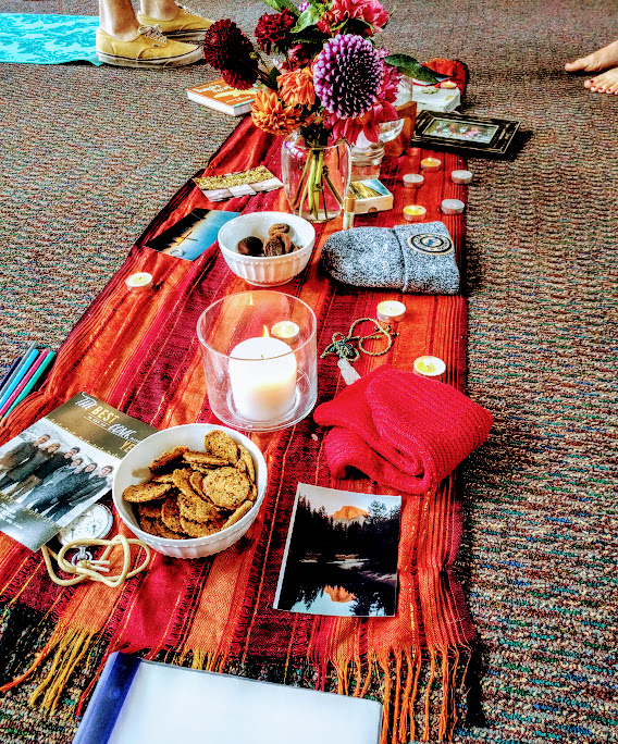 Our ancestor alter at PLU's Anti-Racism as Spiritual Practice workshop