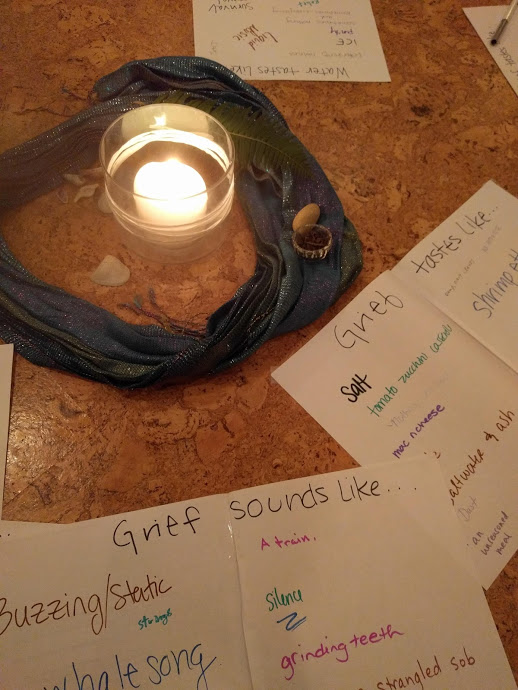 Our alter and reflections from this fall's Grief Series