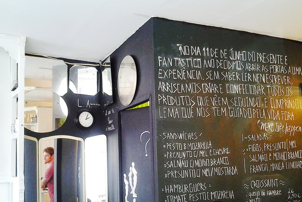 Trendy chalkboards.