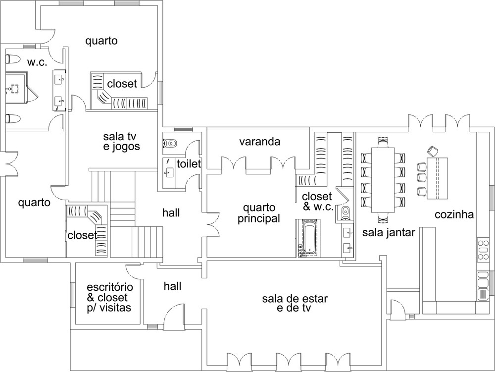 AGORA - passa a ter os mesmos 3 quartos, 2  water closets, toilet,  sala de estar, escritório e uma cozinha  open space  com sala de refeições, lavandaria e despensa.