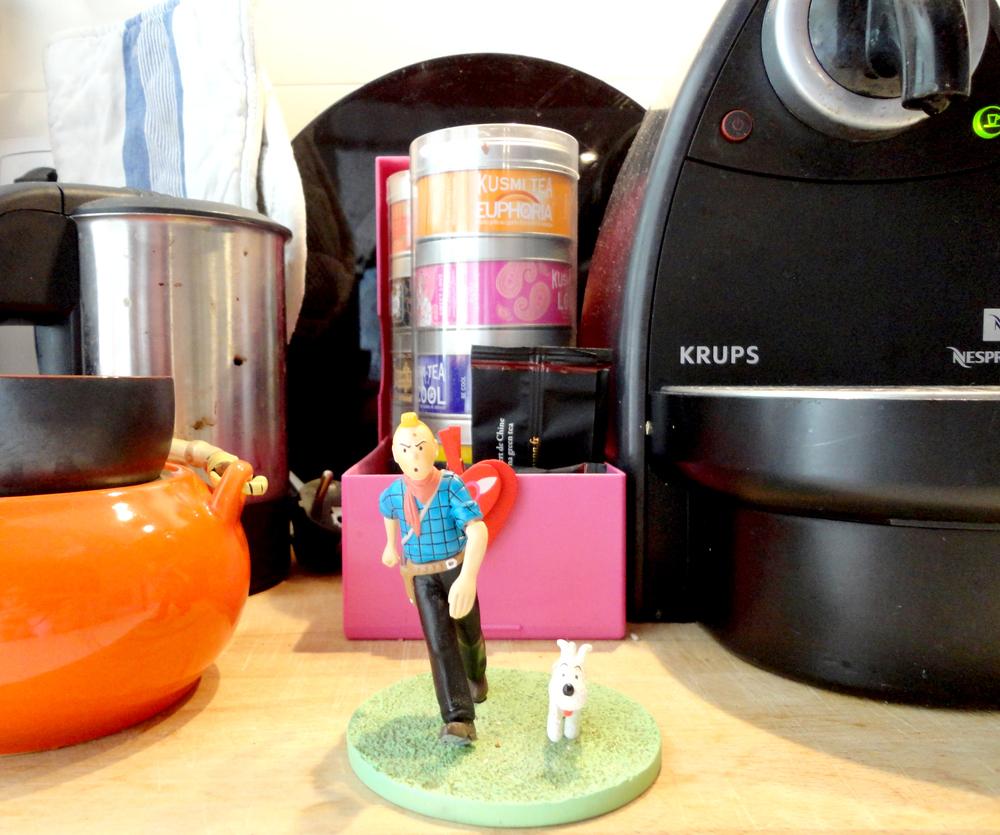 as aventuras do Tintin e da Teca na cozinha