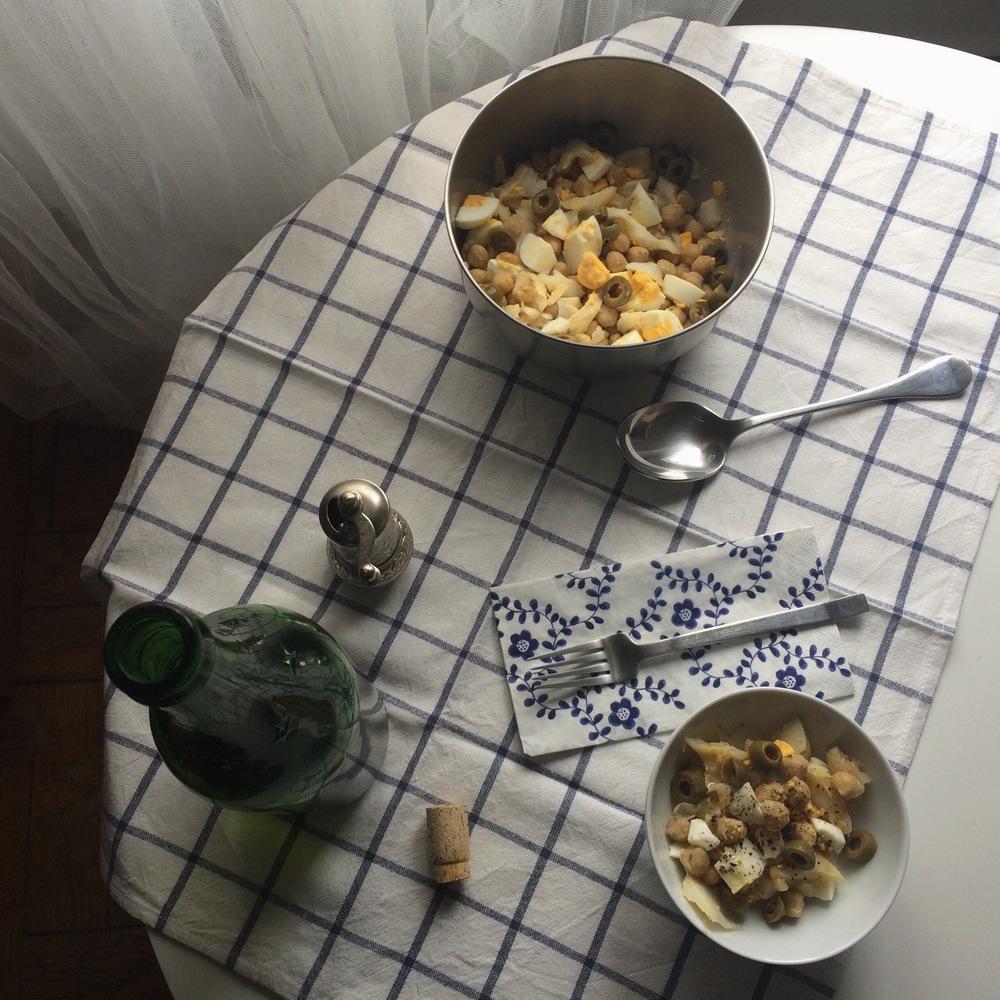 grão e bacalhau
