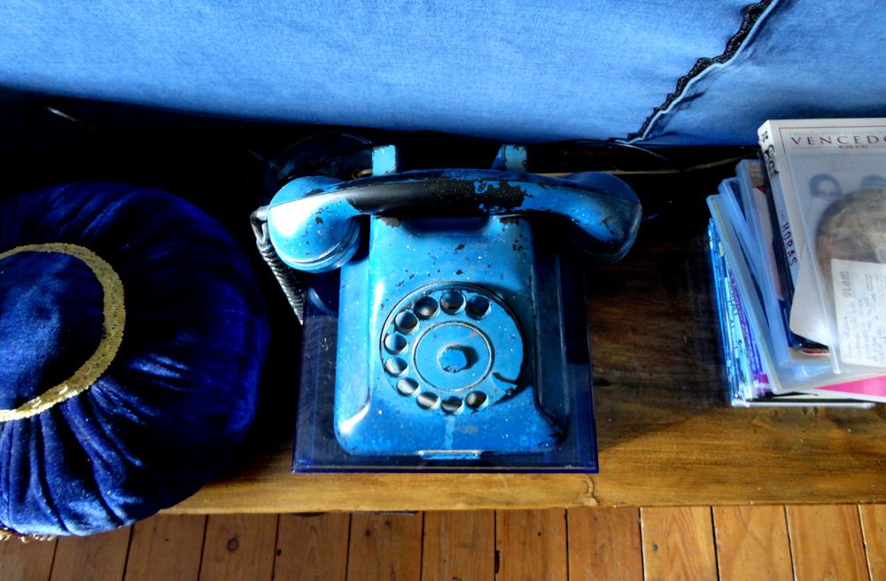 telefone da sua infância (pintado por si).