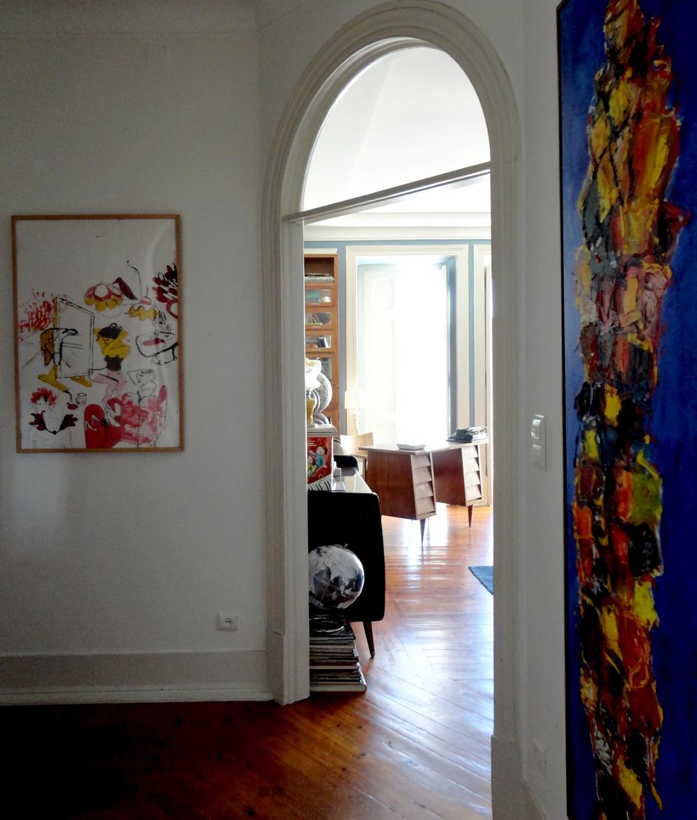 a Isabel é uma apaixonada pela ilustração (imagem à esquerda).