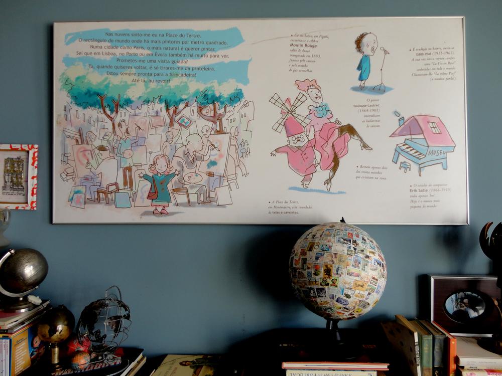referências às histórias que criou (e mais globos)