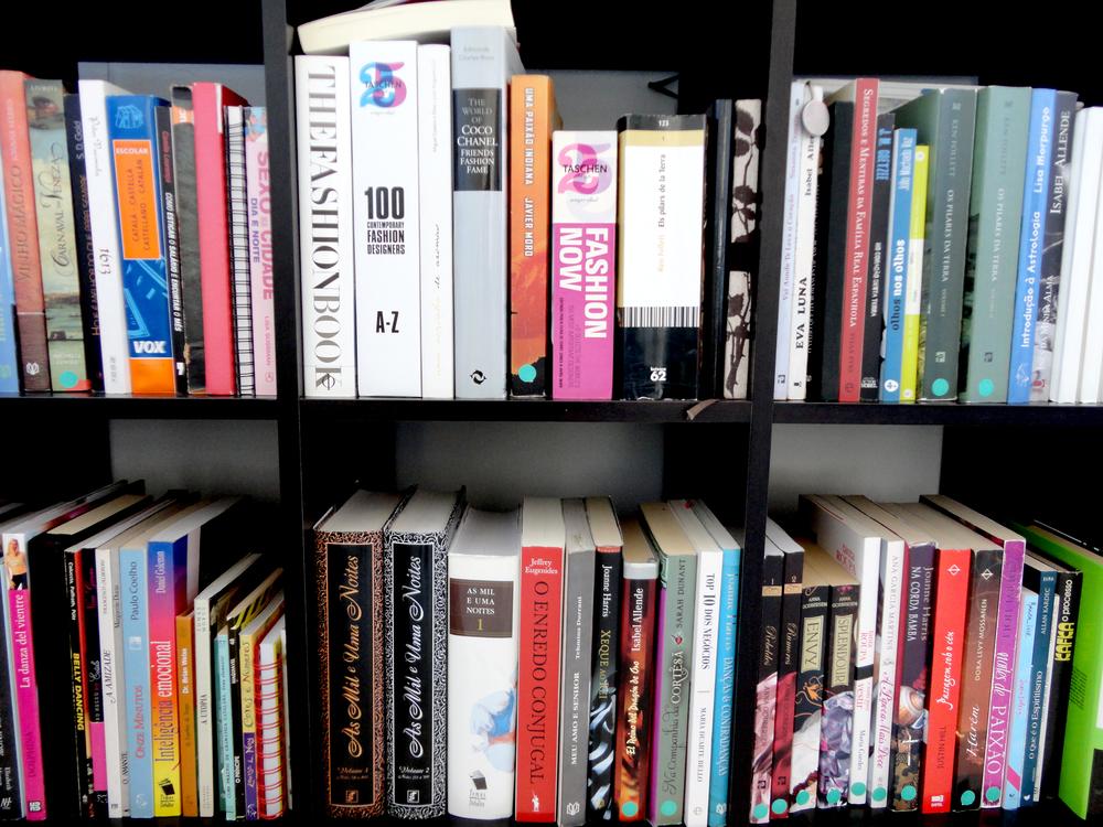 os seus livros, as suas referências.
