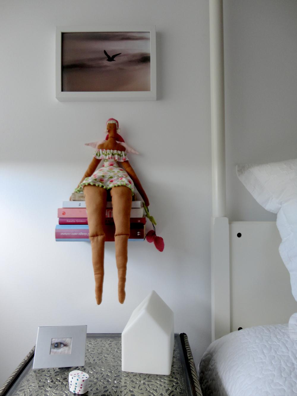 a primeira boneca de pano que fez.