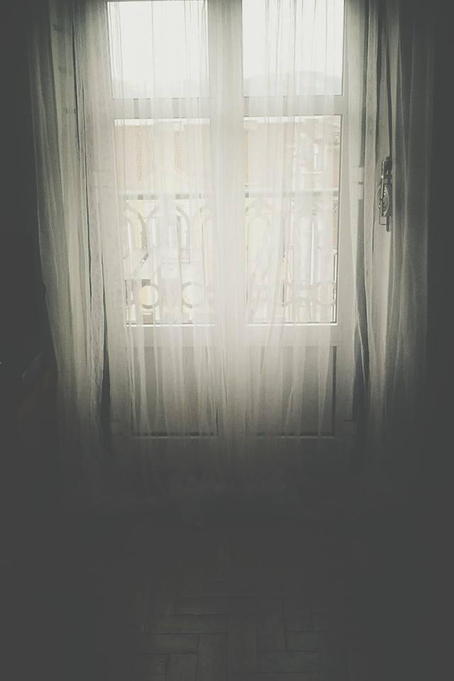 Uma casa transparente.