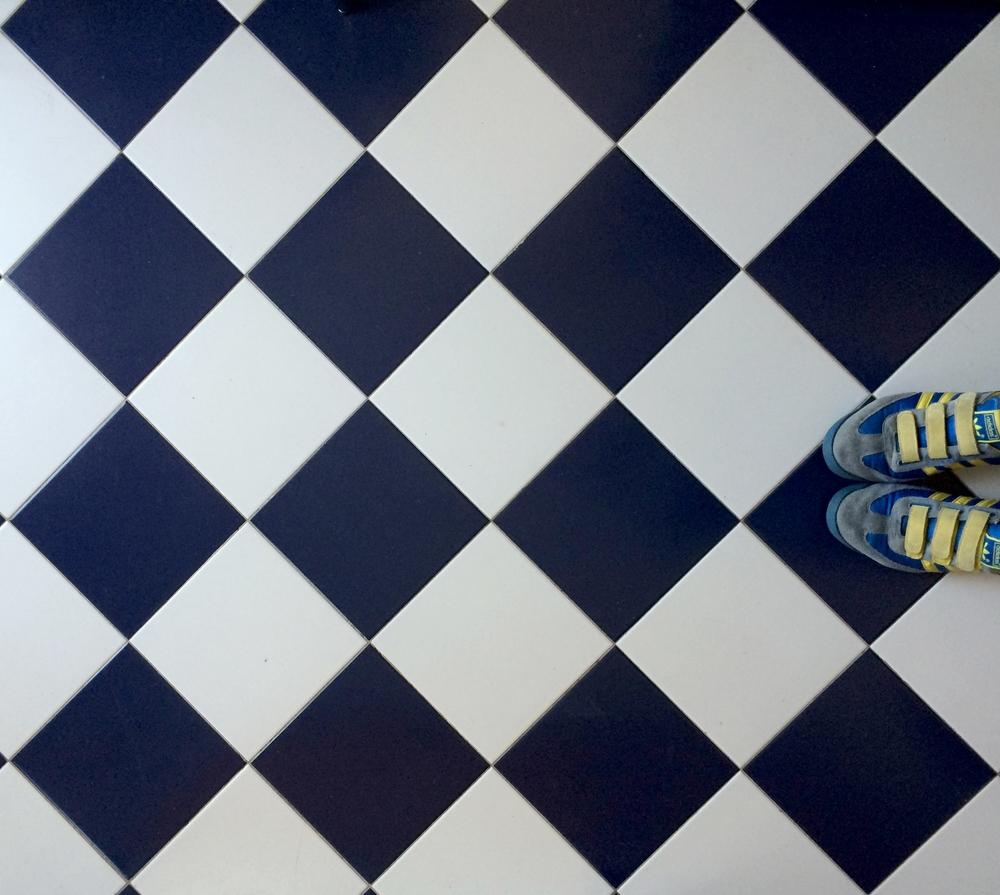 o xadrez mavy + branco.