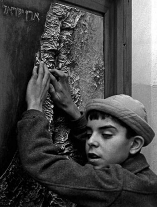 "Rubinger's own favorite work, he told interviewer Yossi Klein Halevi in 2007, depicted a blind boy who arrived as a new immigrant in Israel in the 1950s stroking a relief map of Israel. ""I call it, 'Seeing the Homeland,'"" Rubinger told Halevi."