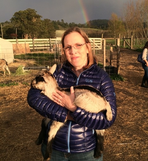 I got snuggly with a baby goat at the Harley Farms Goat Dairy in Half Moon Bay as part of a friend's 50th birthday celebration last year!