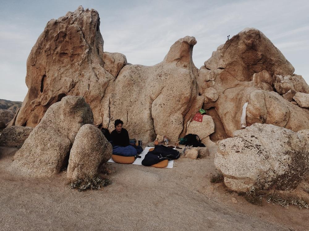 Cowboy camping at Eagle Rock