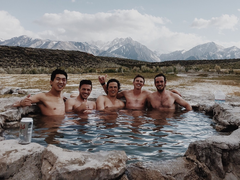Found some hot springs during the bachelor party!