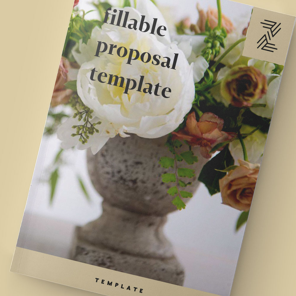 Fillable Proposal Templates Arkansas Wedding Planner Florist