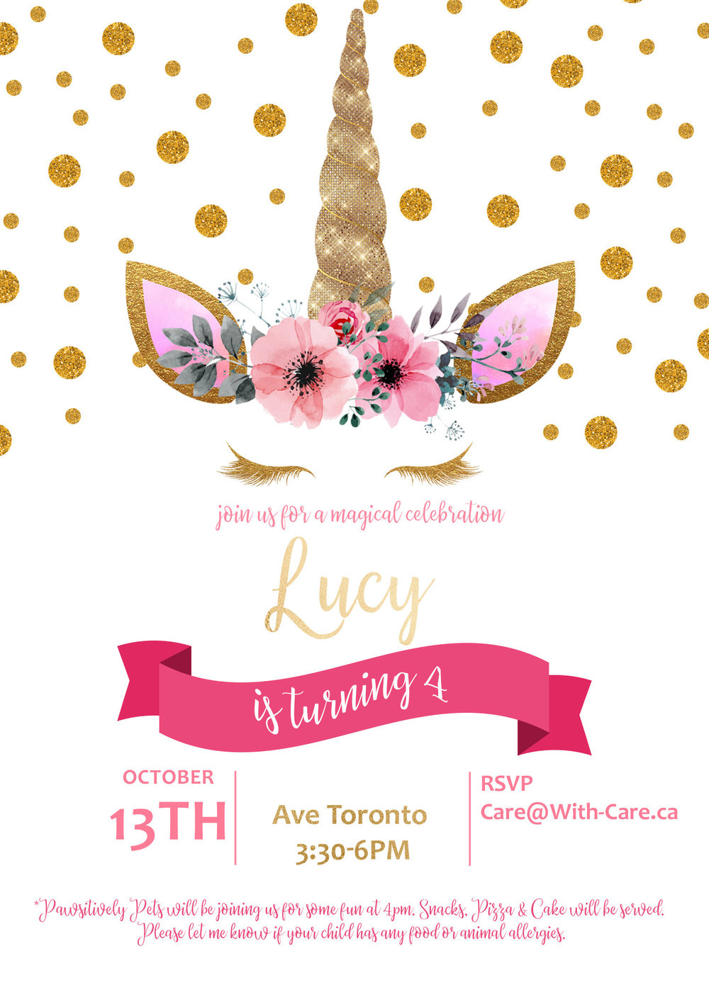 Lucys 4th Unicorn Birthday Party With Care I Education And
