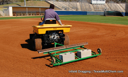Texas Multi-Chem | Infield Dragging | Baseball Field Infield Maintenance | Softball Infield Maintenance | Skinned Area Maintenance | Infield Conditioner