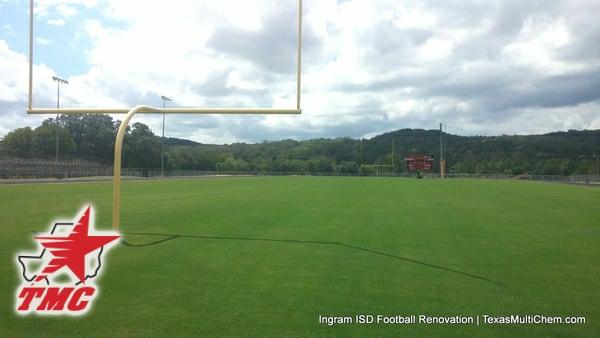 Ingram Football Field Renovation | Natural grass football field