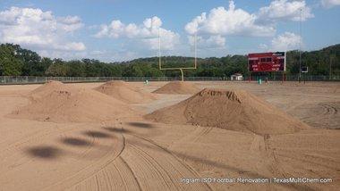 Ingram Football Field Renovation | Texas Multi-Chem | FOOTBALL FIELD Sandy Loam Topsoil