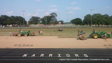 Ingram Football Field Renovation | Texas Multi-Chem | Tifway 419 Grass Install