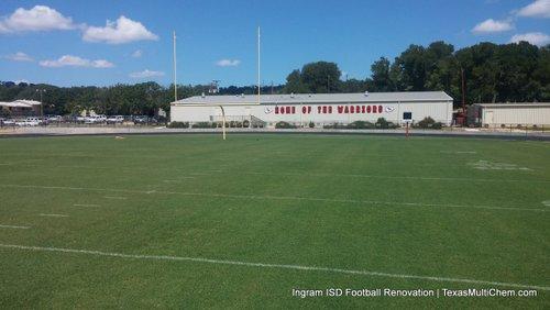 Ingram ISD Football Field Renovation | NATURAL GRASS FOOTBALL FIELD