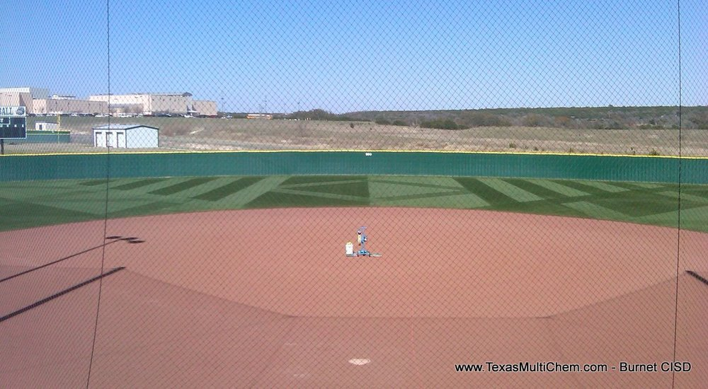 Burnet Baseball Field Mowing Pattern 3 | Texas Multi-Chem Sports Field Construction, Renovation, Maintenance - Great Sports Turf Starts Here