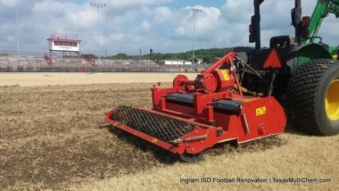 Ingram Football Field Renovation   TMC Sports Turf   Strip Field of Old Turfgrass Surface