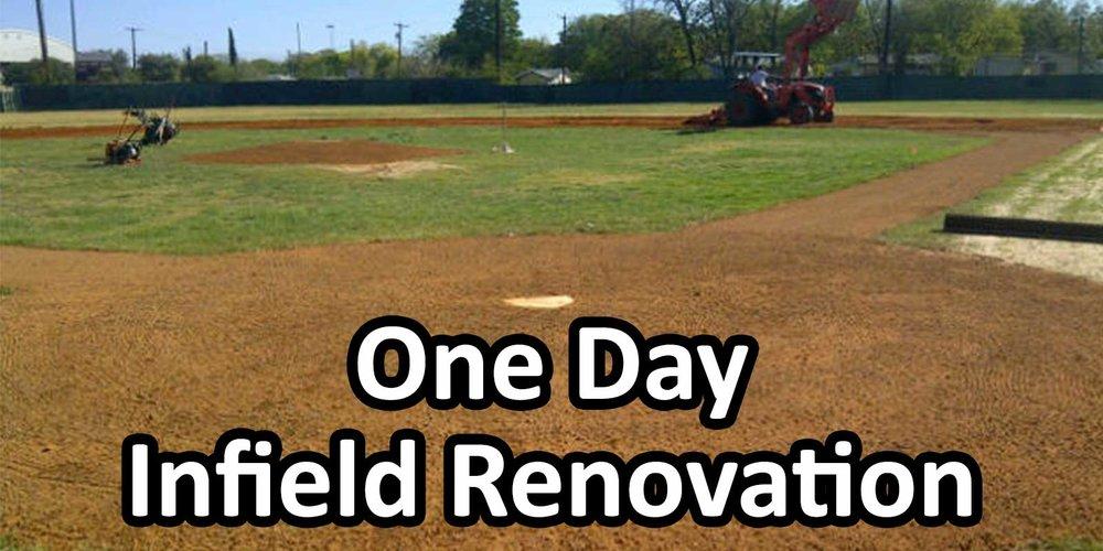 One Day Baseball Field Renovation Texas Multi Chem Ltd