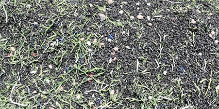 synthetic turf trash / debris