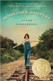 "MOON OVER MANIFEST by Clare Vanderpool    ""The ground came quick and hard, but I landed and rolled as the train lumbered on without a thank-you or goodbye.""    read 8/22/14"