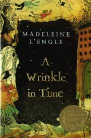 "A WRINKLE IN TIME   by Madeleine L'Engle    ""A whirl of darkness. An icy cold blast. An angry, resentful howl that seemed to tear through her. Darkness again.""    read 2/19/14"