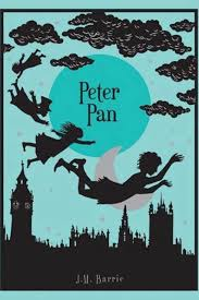 "PETER PAN by J.M. Barrie    ""Mrs. Darling first heard of Peter when she was tidying up her children's minds. It is the nightly custom of every good mother after her children are asleep to rummage in their minds and put things straight for next morning, repacking into their proper places the many articles that have wandered during the day.""    read 1/15/14"